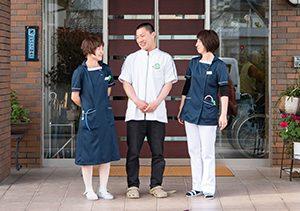 ワシミ整形外科|玄関|スタッフの笑顔